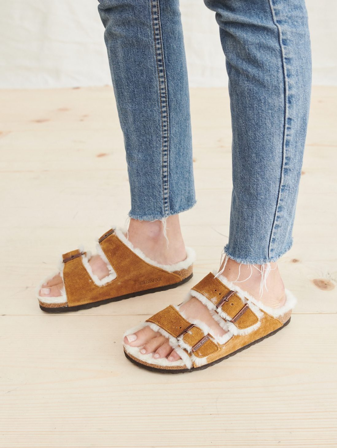 These Shearling-Lined Birkenstock Sandals Are Perfect for Fall