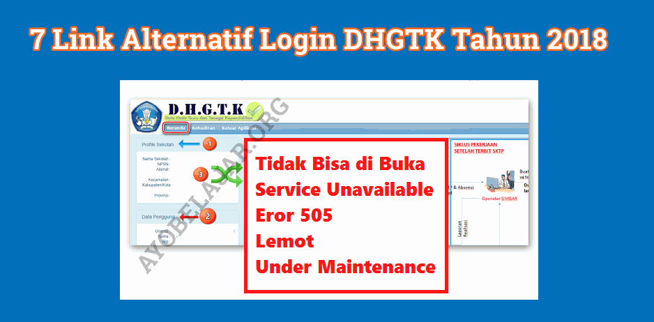 7 Link Alternatif Login DHGTK Tahun 2018