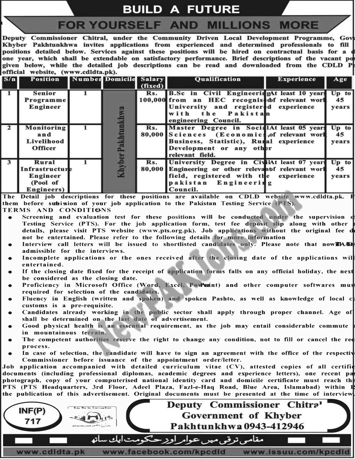 PTS Jobs in Chitral 2018 Office Of The Deputy Commissioner Chitral