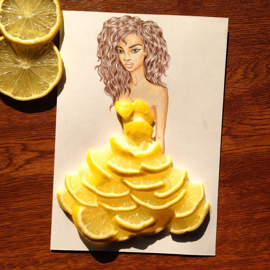 08-Lemon-Edgar-Artis-Drink-Food-Art-Dresses-and-Gowns-Drawings-www-designstack-co