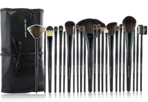 24 piece black essential brush collection