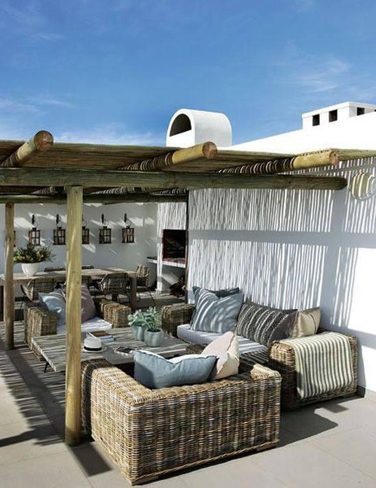 Mi casa entre telas 12 ideas para decorar tu terraza for Decoracion de paredes de terrazas