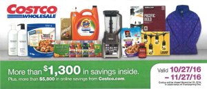 Current Costco Coupon November 2016