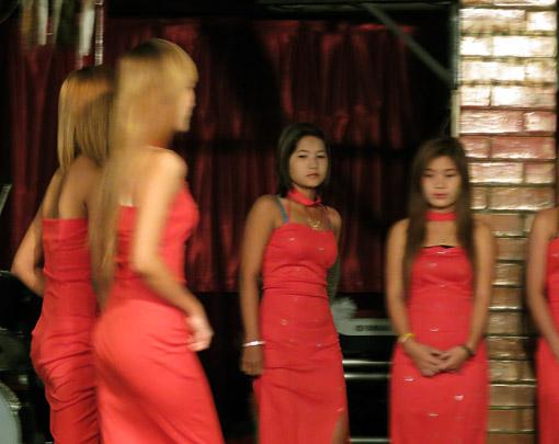 Burmese Girls at night in Yangon 6