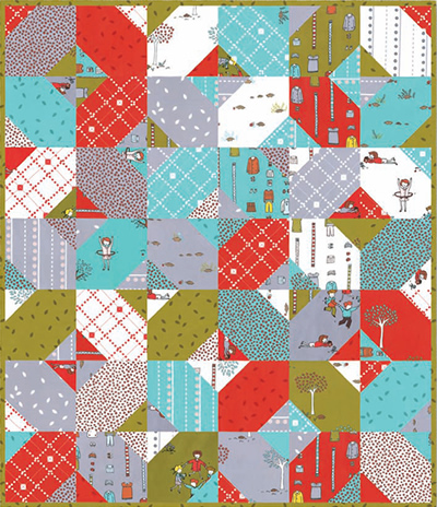 Quilt Inspiration Free Pattern Day Plus And Cross Quilts