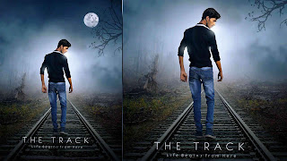 boy on track, alone boy on railway track, alone boy
