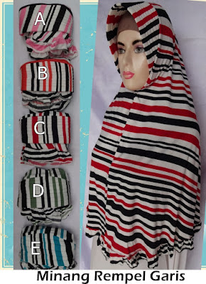 Grosir Jilbab Minang Rempel Garis