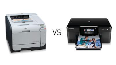 Printer Laser VS Printer Inkjet