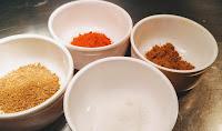 Cumin powder, garam masala, Red Chilly powder and salt in small bowl Recipe