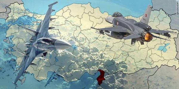 Καταρρίφθηκε αεροσκάφος από τουρκικά F-16 στα τουρκοσυριακά σύνορα - Μονομαχία τουρκικού και συριακού πυροβολικού   Εικόνες