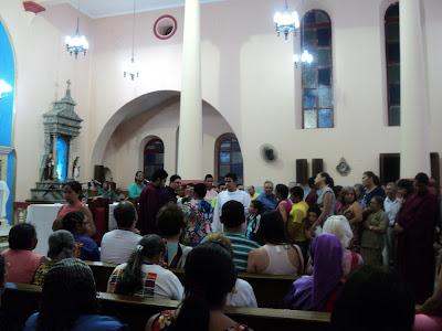 Quaresma: Missa das Cinzas foi celebrada na noite desta quarta-feira.