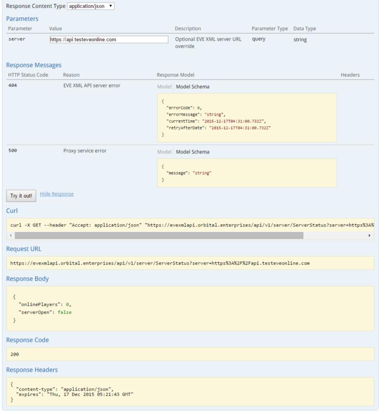 EVE Online XML API Endpoint Proxy ~ Orbital Enterprises