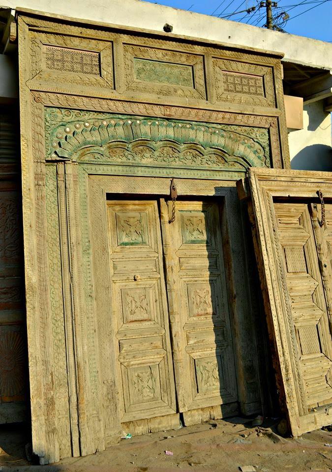 anitque old wooden door