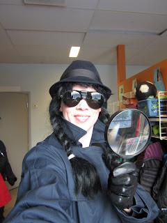 läsfrämjande arbete när bokdetektiven Q kom på klassbesök hos 2A