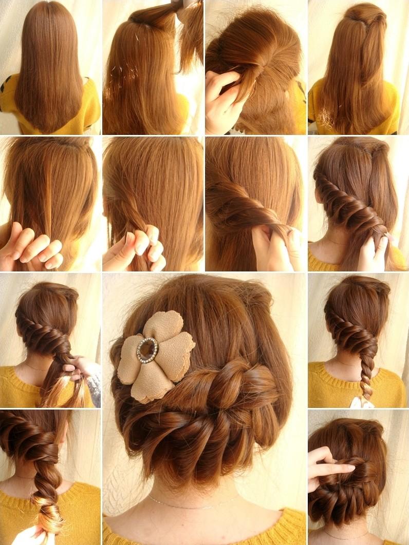 Saç Örgü Topuz Modelleri yapılışları