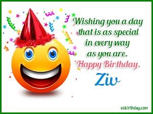 Happy Birthday Ziv