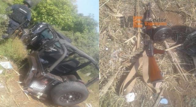 """Fotografías; Así fue el tremendo """"topón"""" entre policías contra sicarios de LNFM en Michoacán reportan 12 muertos"""