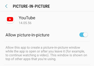 Allow picture-in-picture mode YouTube