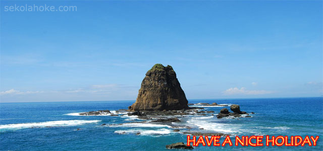 Foto Papuma Beach Jember, Greeting Card