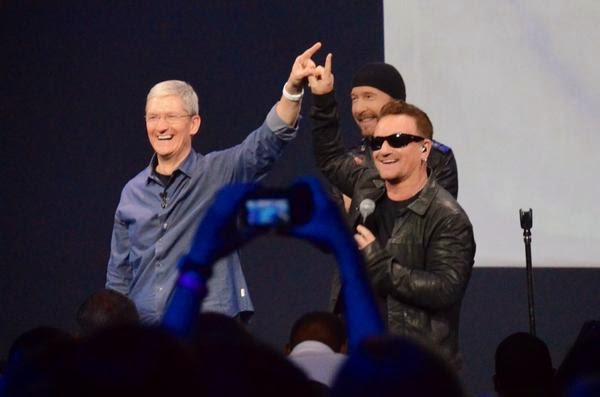 Apple's free U2 album is Now appearing in your Music app