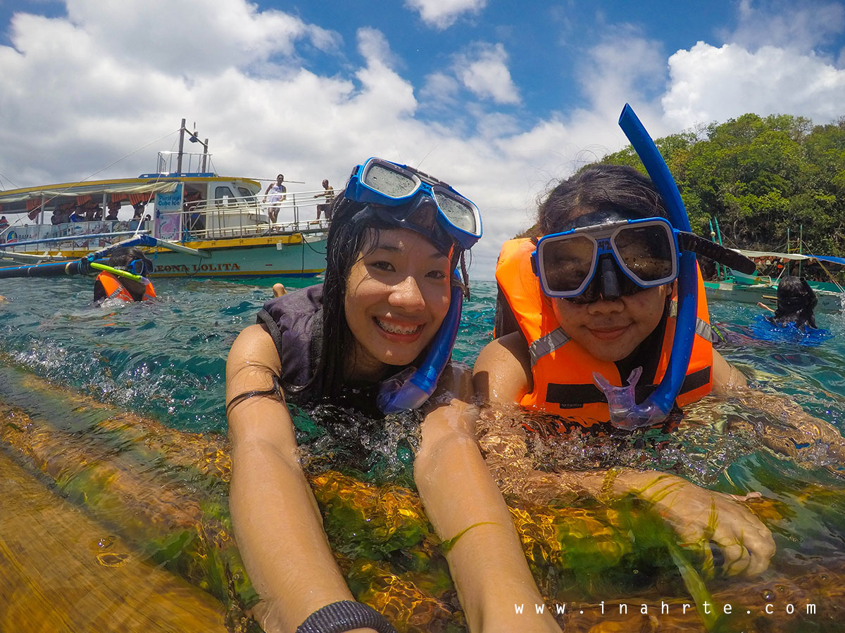 Snorkelling shot at Boracay