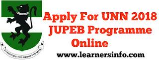 Apply for UNN JUPEB Online