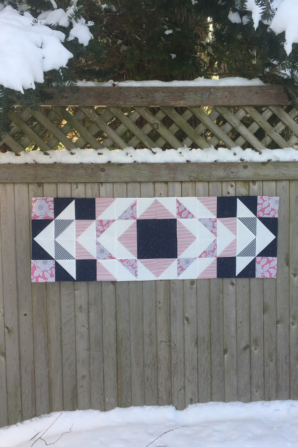 Modern Aztec Table Runner made by Kates Makes & Creates | Shannon Fraser Designs