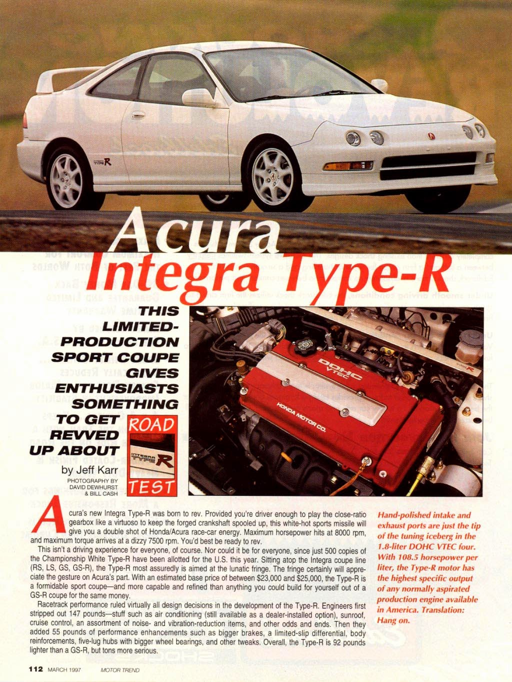 Integra type r 1920 project blog motor trend march for New deal online motor trend