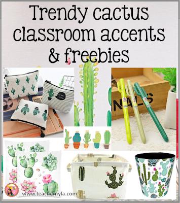 Nylas Crafty Teaching Cactus Classroom Decor And More