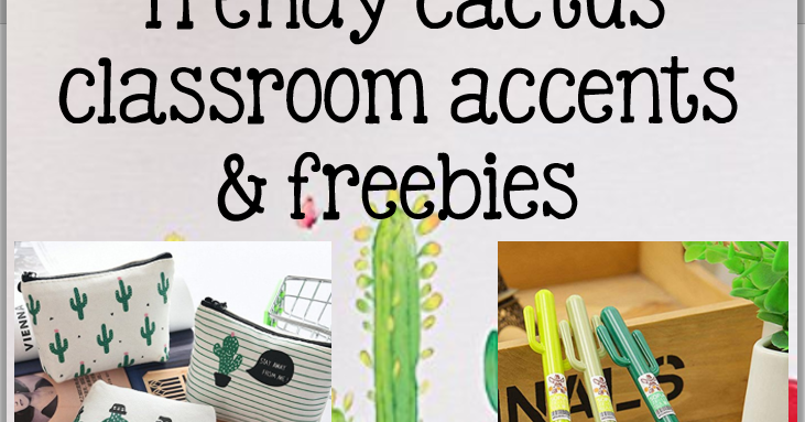 Nylas Crafty Teaching Cactus Classroom Decor And More