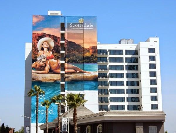 Giant Scottsdale tourism billboard