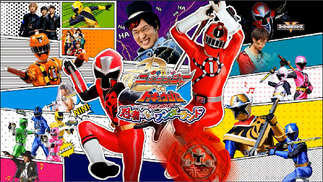 Shuriken Sentai Ninninger vs. ToQger The Movie: Ninjas in Wonderland Sub Indo