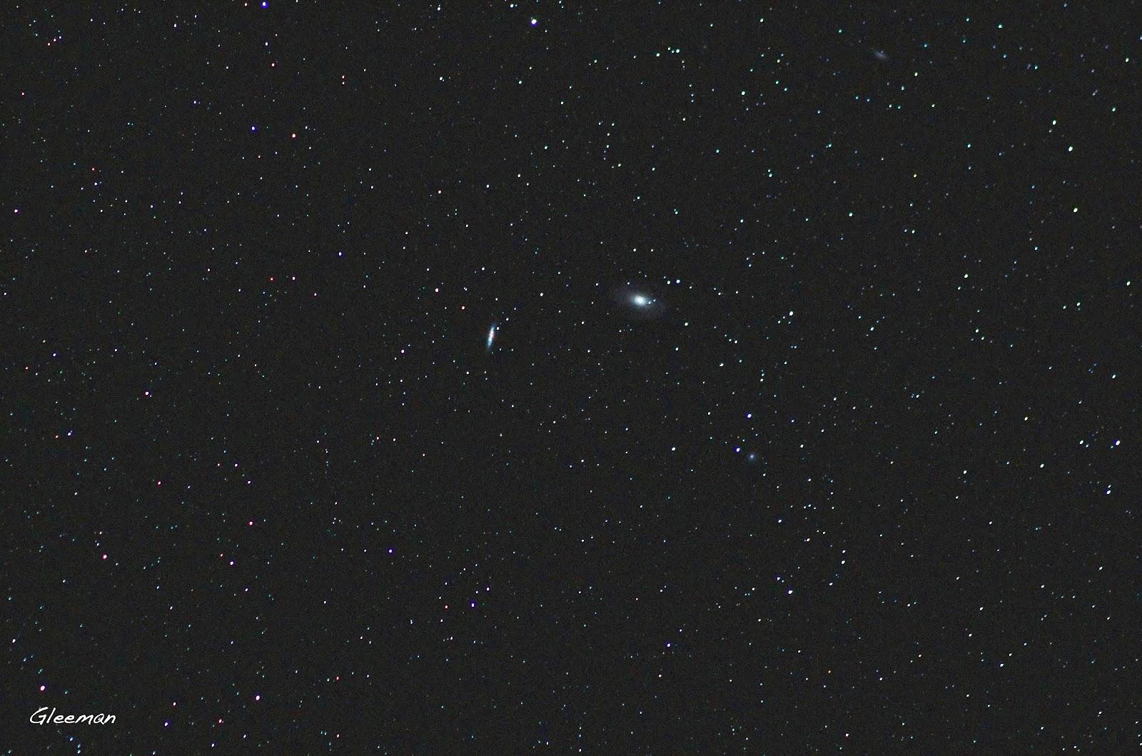 M82與在它之中剛爆發不久的超新星SN 2014J,以及M81 Pentax K5 + O-GPS1 + Tamron Adaptall-2 SP 300mm f/2.8 LD IF (60B) ,  ISO 4000, F2.8 70sec