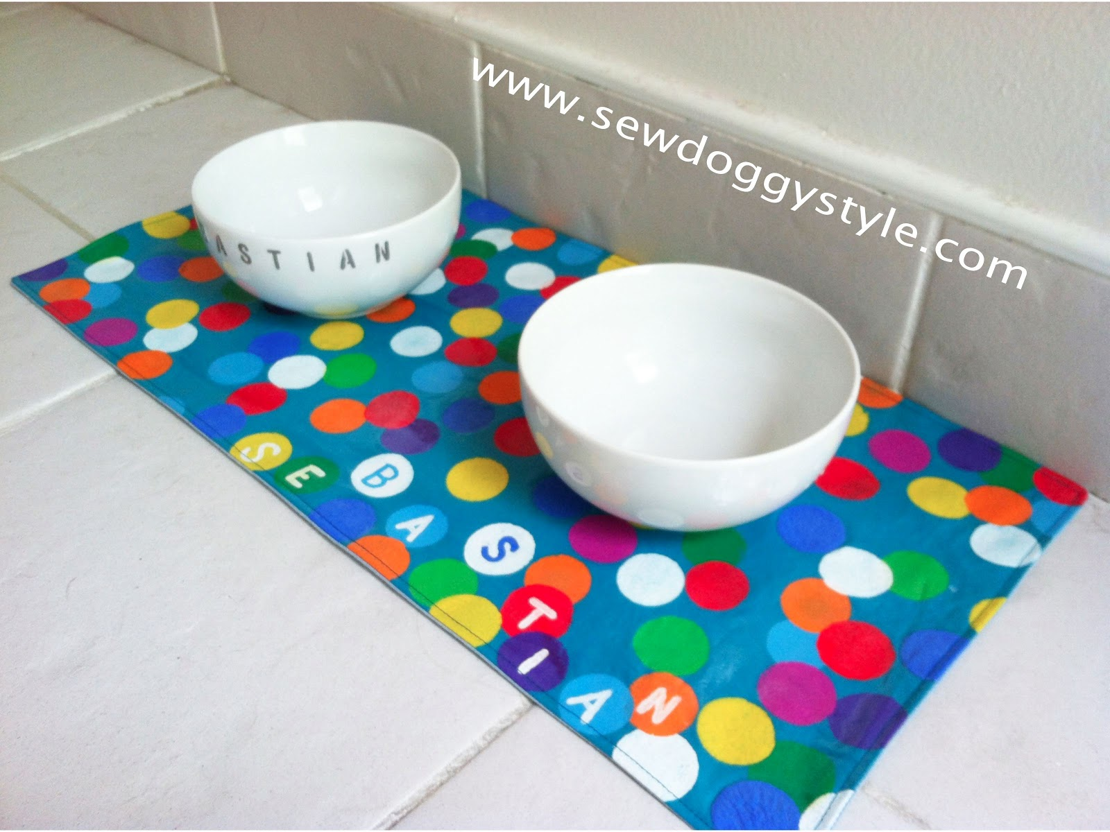 Sew Doggystyle Diy Fun Summer Placemat For Pet Bowls