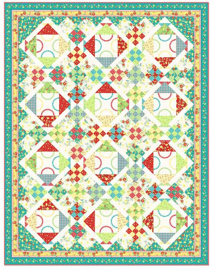 Quilt Inspiration Free Pattern Day Basket Quilts