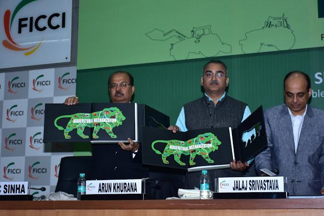 From Left - PC Sinha, Arun Khurana, Jalaj Srivastava, Radha Mohan SIngh, Shobhana K Pattanayak, Ashwani Kumar, Vinay Mathur