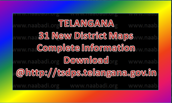 telangana-new-31-districts-profile-administrative-revenue-political-maps-stats-parameters-information-download-tsdps