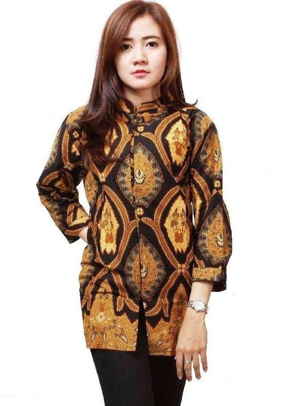 ッ 40 Model Baju Batik Kombinasi Kain Polos Embos Sifon