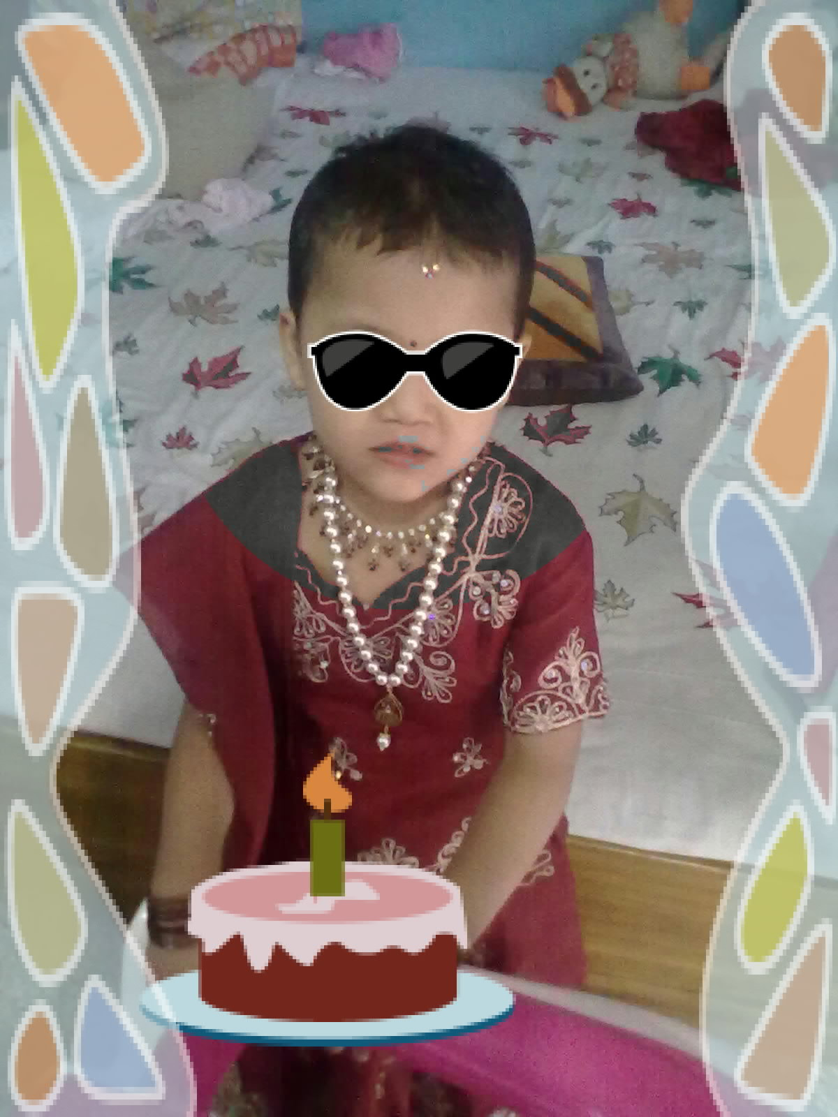 Shreya Thapa Birday Cack Shreya And Sarika Thapa Photo