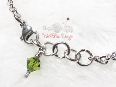 Wire wrapped minima bracelet (Minlet) with Mixed Swarovski Crystal