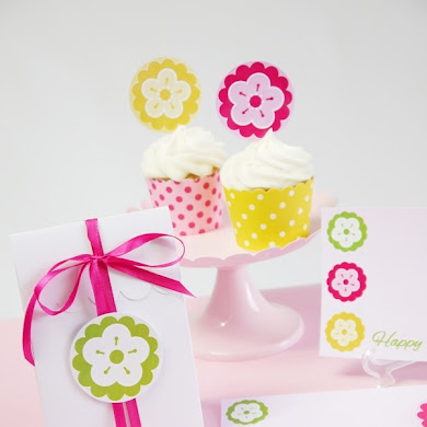 FREE Mother's Day Pink & Yellow Party Printables