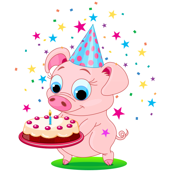 Birthday Piggy Icon