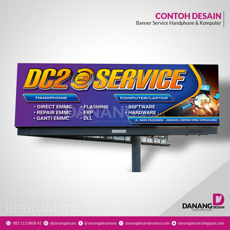 Contoh Desain Spanduk Service Hp Jasa Desain Grafis Online