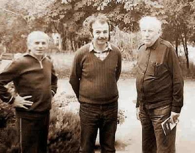 Iuri Akovia con con Gurgenidze y Guliaev en Odessa en 1985