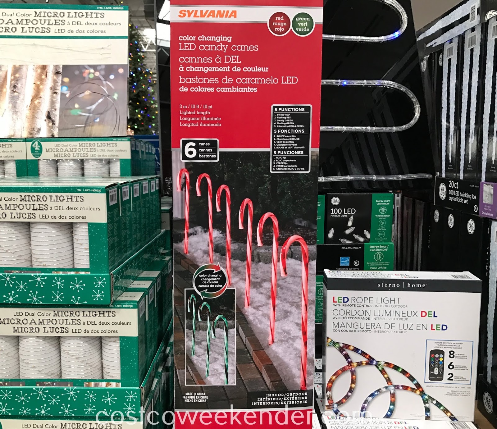 Sylvania Color Changing Led Candy Cane Lights Costco Weekender