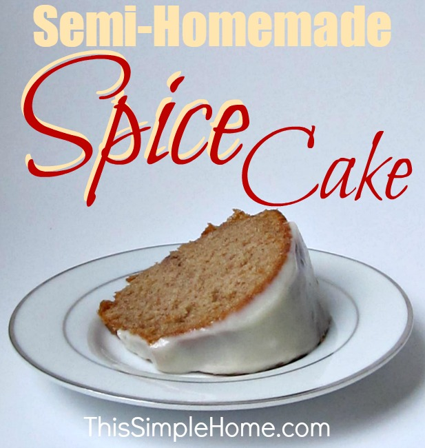 Semi-Homemade Frosted Spice Cake Recipe