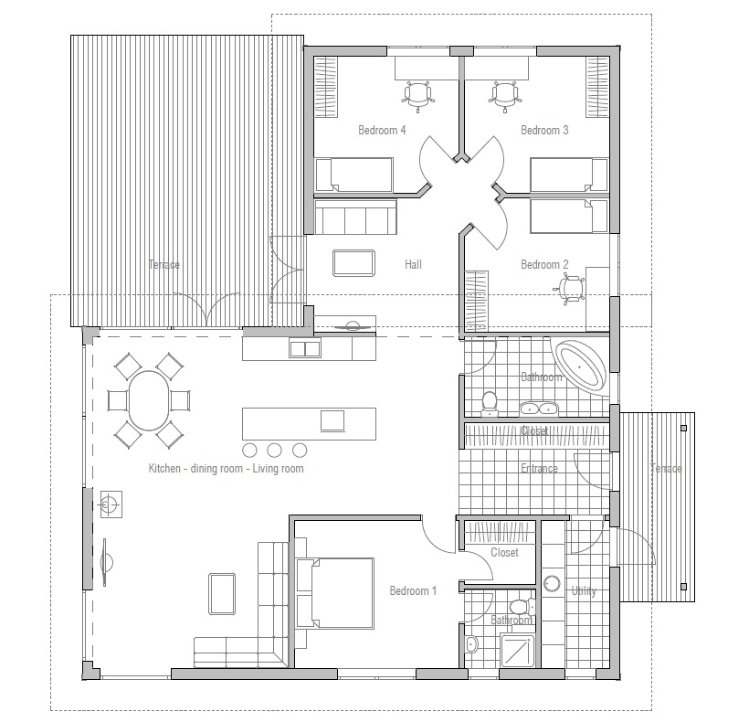 Modern Home Design October 2012: Contemporary House Plans: Contemporary Home CH28