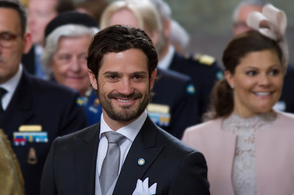 "Queen Silvia, Crown Princess Victoria, Prince Daniel, Prince Carl Philip attended the ""Te Deum"" church service at the Royal Chapel"