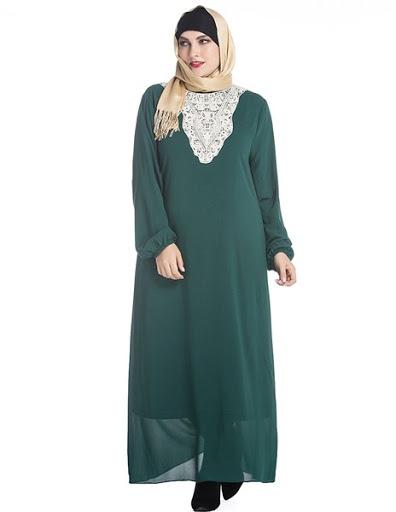 Model baju gamis untuk orang gemuk terbaru