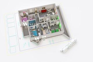 Ilustrasi desain rumah ramah lingkungan